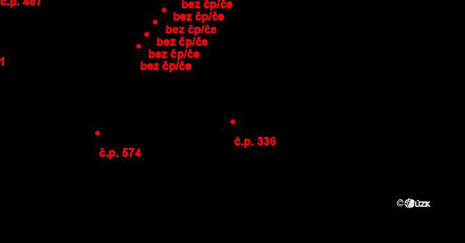 Mladá Boleslav II 336, Mladá Boleslav na parcele st. 3537 v KÚ Mladá Boleslav, Katastrální mapa