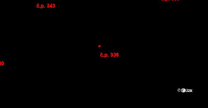 Stará Huť 336 na parcele st. 358 v KÚ Stará Huť, Katastrální mapa