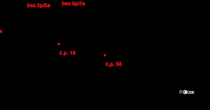 Dolní Bezděkov 56, Bratronice na parcele st. 71/2 v KÚ Dolní Bezděkov u Kladna, Katastrální mapa