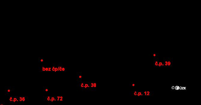 Smetanova Lhota 38 na parcele st. 62 v KÚ Smetanova Lhota, Katastrální mapa