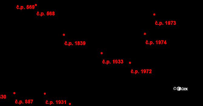 Předměstí 1933, Opava na parcele st. 372/7 v KÚ Opava-Předměstí, Katastrální mapa
