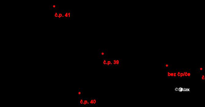Sedlejov 39 na parcele st. 39 v KÚ Sedlejov, Katastrální mapa