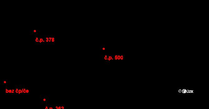 Uhříněves 500, Praha na parcele st. 742 v KÚ Uhříněves, Katastrální mapa