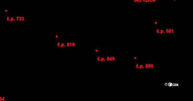 Hradec Králové 549 na parcele st. 633 v KÚ Hradec Králové, Katastrální mapa