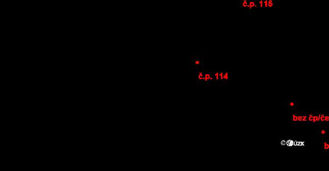 Čestlice 114 na parcele st. 224 v KÚ Čestlice, Katastrální mapa