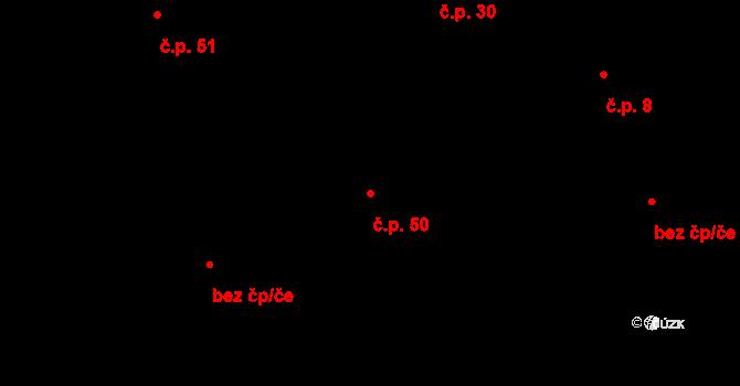 Malé Březno 50 na parcele st. 111/1 v KÚ Malé Březno, Katastrální mapa