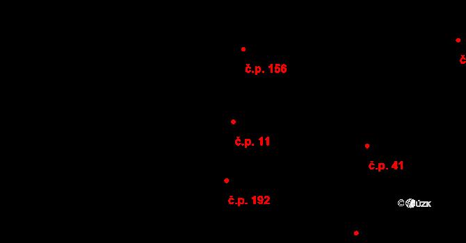 Měrovice nad Hanou 11 na parcele st. 112 v KÚ Měrovice nad Hanou, Katastrální mapa