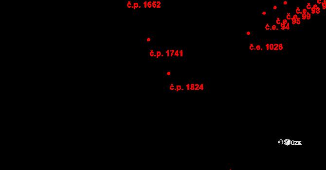 Aš 1824 na parcele st. 1864/1 v KÚ Aš, Katastrální mapa
