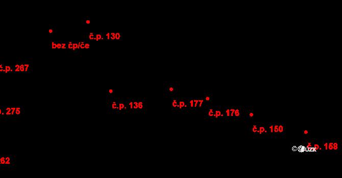 Řevničov 177 na parcele st. 211 v KÚ Řevničov, Katastrální mapa