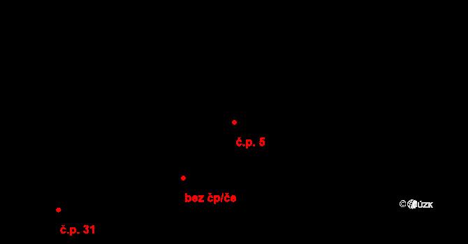 Pokutice 5, Kadaň na parcele st. 58/1 v KÚ Pokutice, Katastrální mapa