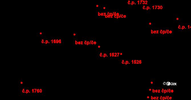 Teplice 1527 na parcele st. 3104 v KÚ Teplice, Katastrální mapa