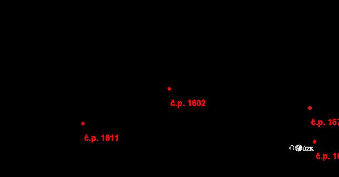 Švermov 1602, Kladno na parcele st. 1132 v KÚ Hnidousy, Katastrální mapa