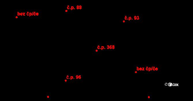 Březno 368 na parcele st. 3/1 v KÚ Březno u Chomutova, Katastrální mapa