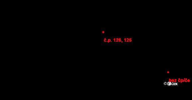 Řež 125,126, Husinec na parcele st. 283 v KÚ Husinec u Řeže, Katastrální mapa