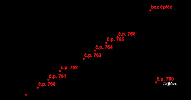 Újezd 764, Plzeň na parcele st. 1066/13 v KÚ Újezd, Katastrální mapa