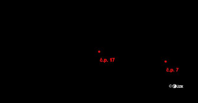 Knihy 17, Řenče na parcele st. 15 v KÚ Knihy, Katastrální mapa