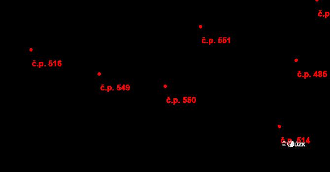 Hradec Králové 550 na parcele st. 632 v KÚ Hradec Králové, Katastrální mapa
