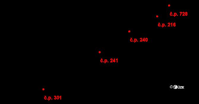 Kudlov 241, Zlín na parcele st. 407 v KÚ Kudlov, Katastrální mapa