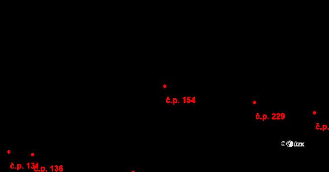 Nové Jesenčany 154, Pardubice na parcele st. 197 v KÚ Nové Jesenčany, Katastrální mapa