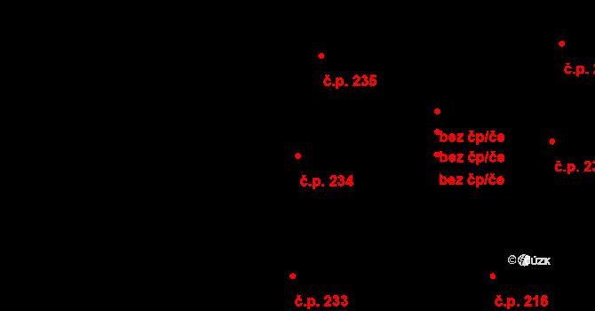 Nové Město 234, Praha na parcele st. 968/1 v KÚ Nové Město, Katastrální mapa