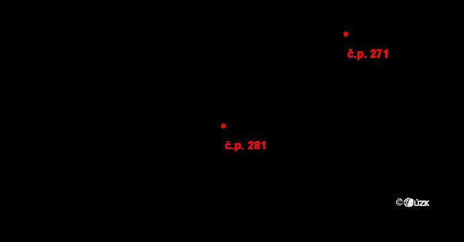 Kanada 281, Třinec na parcele st. 1118 v KÚ Konská, Katastrální mapa