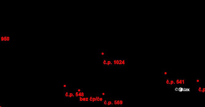 Žižkov 1024, Praha na parcele st. 302/2 v KÚ Žižkov, Katastrální mapa