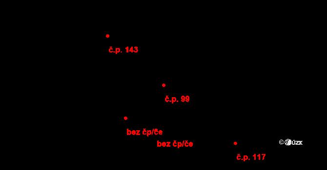 Batňovice 99 na parcele st. 264 v KÚ Batňovice, Katastrální mapa