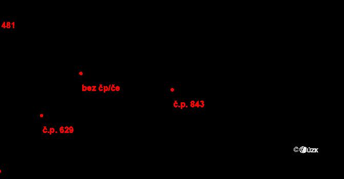 Česká Skalice 843 na parcele st. 1175/2 v KÚ Česká Skalice, Katastrální mapa
