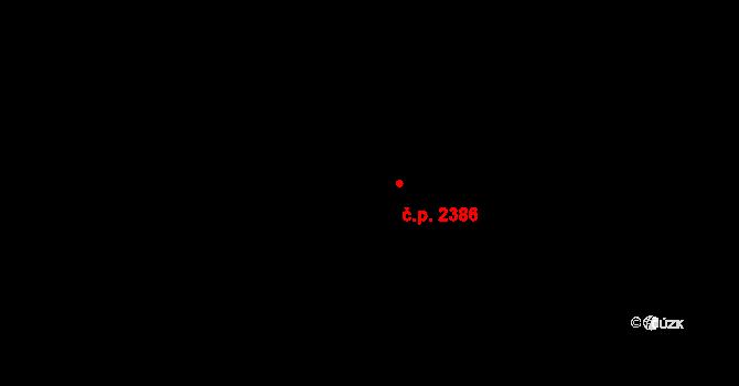 Jihlava 2386 na parcele st. 1068/10 v KÚ Jihlava, Katastrální mapa