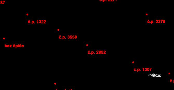 Frýdek 2852, Frýdek-Místek na parcele st. 337/3 v KÚ Frýdek, Katastrální mapa