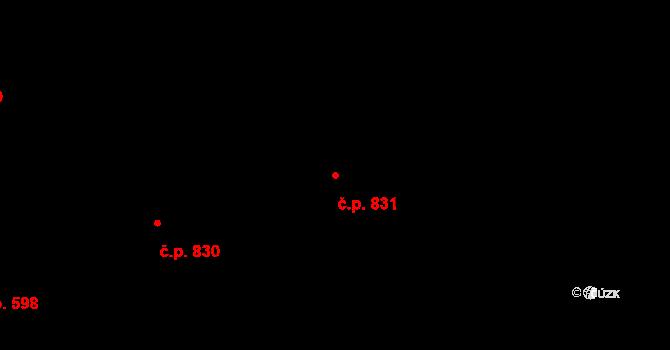 Bubeneč 831, Praha na parcele st. 1328 v KÚ Bubeneč, Katastrální mapa