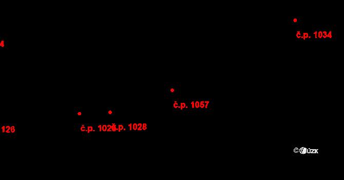 Lhotka 1057, Praha na parcele st. 840/24 v KÚ Lhotka, Katastrální mapa
