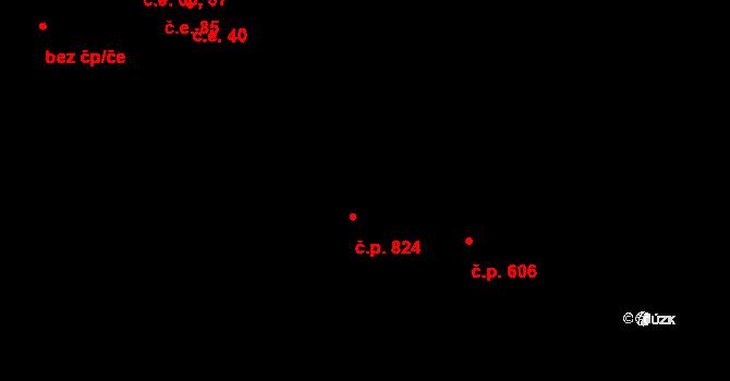 Luka nad Jihlavou 606 na parcele st. 23/2 v KÚ Otín nad Jihlavou, Katastrální mapa