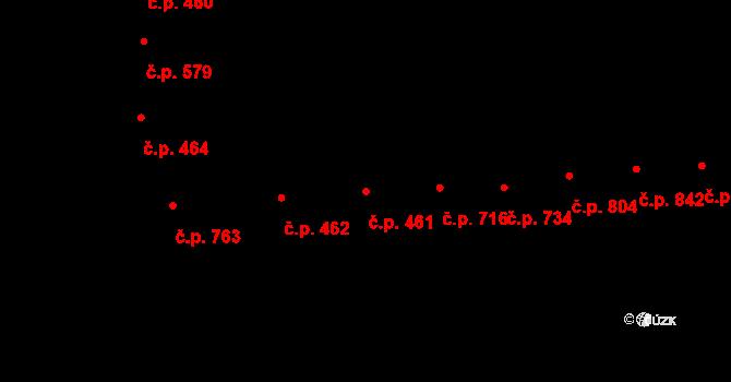 Černovice 461, Brno na parcele st. 1023 v KÚ Černovice, Katastrální mapa