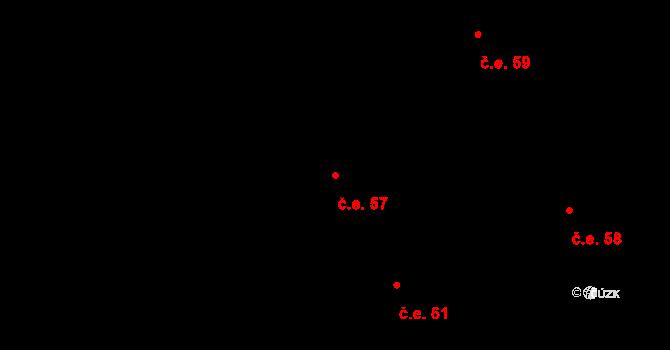Děhylov 57 na parcele st. 279/2 v KÚ Děhylov, Katastrální mapa