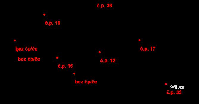 Dolní Bezděkov 12, Bratronice na parcele st. 27 v KÚ Dolní Bezděkov u Kladna, Katastrální mapa