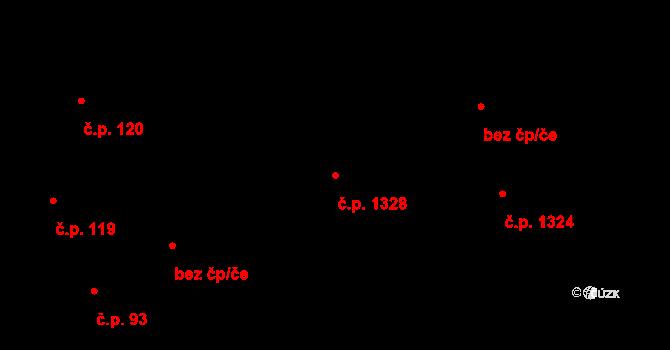 Černice 1328, Plzeň na parcele st. 111/5 v KÚ Černice, Katastrální mapa