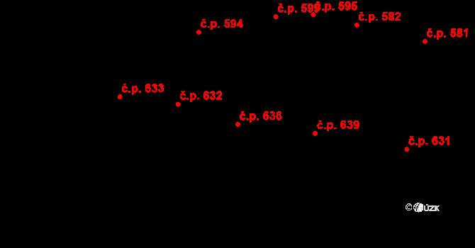 Velké Pavlovice 636 na parcele st. 996 v KÚ Velké Pavlovice, Katastrální mapa