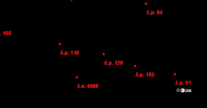 Pávov 126, Jihlava na parcele st. 54/7 v KÚ Pávov, Katastrální mapa