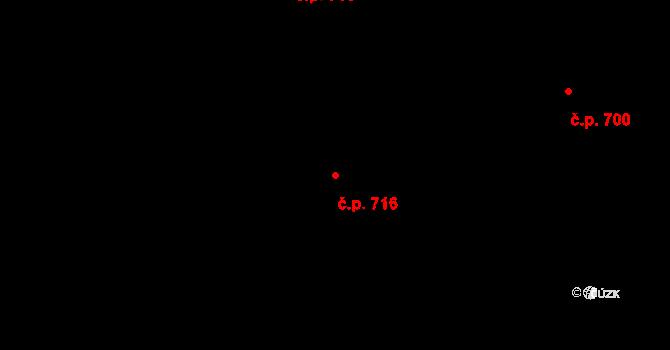 Prštné 716, Zlín na parcele st. 1151 v KÚ Prštné, Katastrální mapa