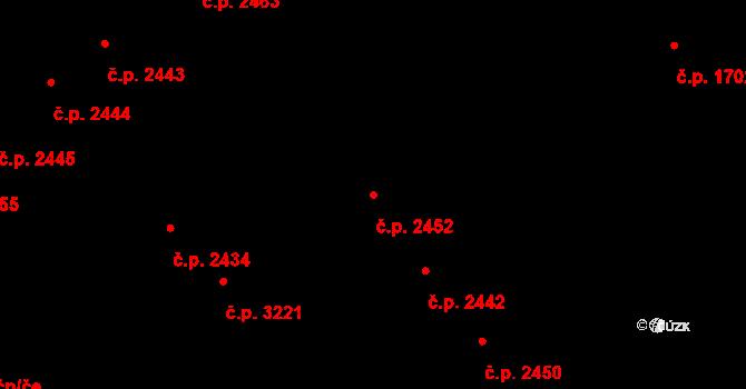 Teplice 2452 na parcele st. 1281/1 v KÚ Teplice, Katastrální mapa