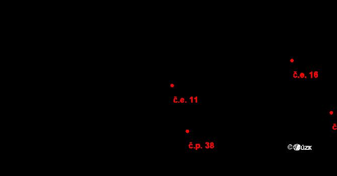 Předboř 11, Strančice na parcele st. 78 v KÚ Předboř u Prahy, Katastrální mapa