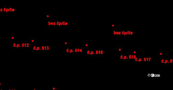 Svítkov 515, Pardubice na parcele st. 534 v KÚ Svítkov, Katastrální mapa