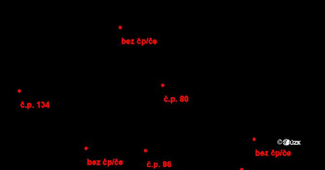 Rodvínov 80 na parcele st. 119 v KÚ Rodvínov, Katastrální mapa