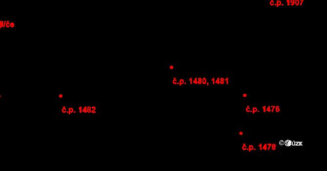 České Budějovice 7 1480,1481, České Budějovice na parcele st. 3467/1 v KÚ České Budějovice 7, Katastrální mapa