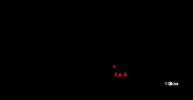 Václavy 6 na parcele st. 51 v KÚ Václavy, Katastrální mapa