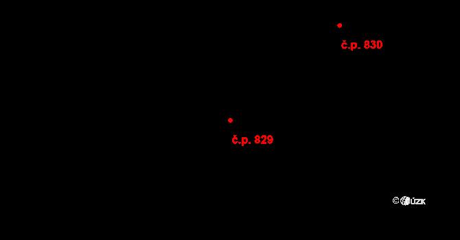 Liberec XII-Staré Pavlovice 829, Liberec na parcele st. 686/36 v KÚ Staré Pavlovice, Katastrální mapa