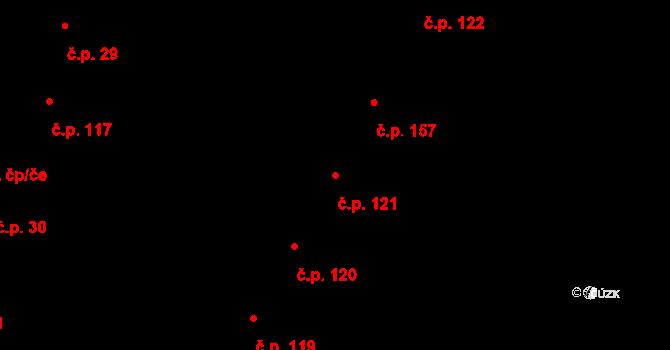 Dobré Pole 121 na parcele st. 144 v KÚ Dobré Pole, Katastrální mapa