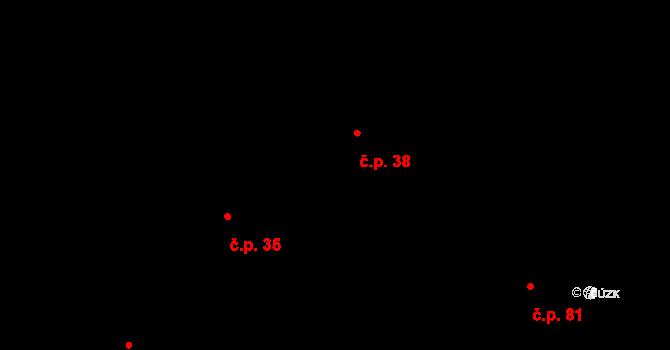 Skočova Lhota 38, Malá Roudka na parcele st. 78 v KÚ Skočova Lhota, Katastrální mapa