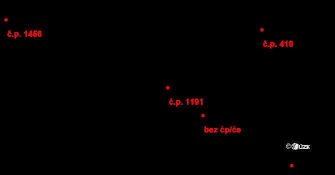Slatina 1191, Brno na parcele st. 1074/2 v KÚ Slatina, Katastrální mapa